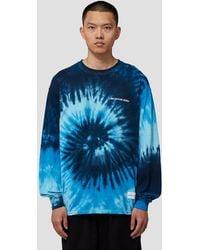 MKI Miyuki-Zoku Tie Dye Long Sleeve T-shirt - Blue