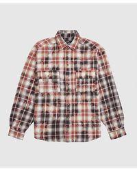 Rassvet (PACCBET) Bleached Check Long Sleeve Shirt - Brown
