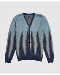 Needles Mohair Flame Cardigan - Blue