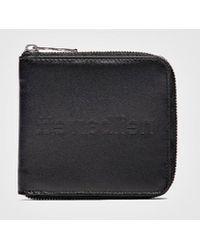 Neil Barrett Reverse Name Leather Wallet - Black
