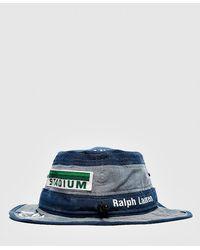 Polo Ralph Lauren Bucket Hat~White w//Stripe~Reversible~Blue Floral~Size S//M~NWT