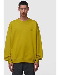 Acne Studios Forba Face Crewneck Sweatshirt - Yellow