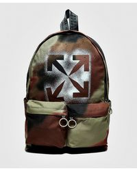 Off-White c/o Virgil Abloh Stencil Camo Backpack - Brown