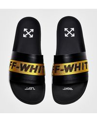 Off-White c/o Virgil Abloh Logo Webbing Rubber Slide Sandals - Black