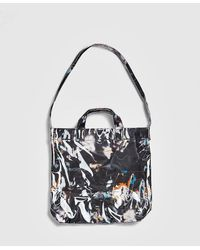 Comme des Garçons Futura All Over Print Shoulder Tote Bag - Black