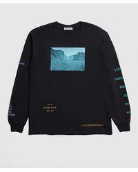 Flagstuff Psychedelic Long Sleeve T-shirt - Black