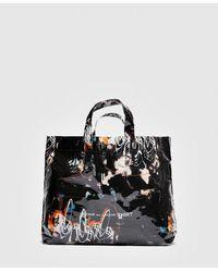 Comme des Garçons Futura All Over Print Tote Bag - Black