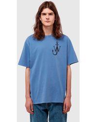 JW Anderson Anchor Print T-shirt - Blue