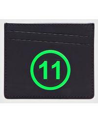 Maison Margiela Logo-embossed Leather Cardholer - Green