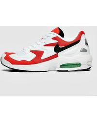 Nike Air Max Lunarlon Sneakers in Red for Men Lyst