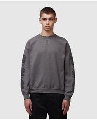 Sasquatchfabrix. Oriental Fan Print Sweatshirt - Grey