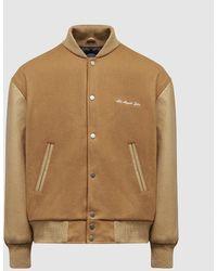 MKI Miyuki-Zoku University Varsity Jacket - Natural