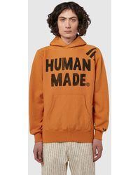 Human Made Pizza Hoodie - Orange
