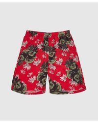 Undercover Face Palm Tree Short - Red