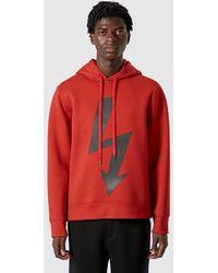Neil Barrett Arrow Bolt Hooded Sweatshirt - Red