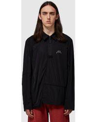 A_COLD_WALL* Diagonal Piping Polo Jacket - Black