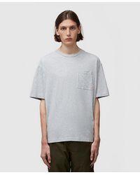 Acne Studios Extorr Pocket Pink Label T-shirt - Grey