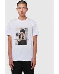 Neil Barrett Gangster Applique T-shirt - White
