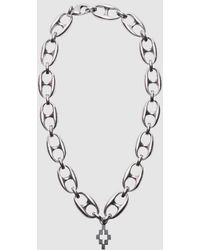 Marcelo Burlon Cross Charm Necklace - Metallic