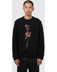 Neil Barrett Floral Insert Lightning Sweatshirt - Black