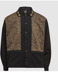 Brain Dead Cheetah Cabana Shirt - Brown