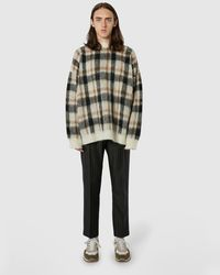 Cmmn Swdn Relaxed Check Jumper - Brown
