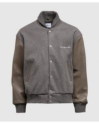 MKI Miyuki-Zoku University Varsity Jacket - Grey