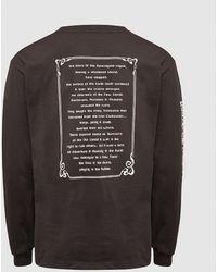 Vans Vault X Aries Poetry Long Sleeve T-shirt - Black