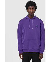 Converse Full zip Hooded Sweat in Purple for Men Lyst