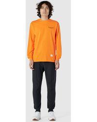 MKI Miyuki-Zoku List Long Sleeve Tee - Orange