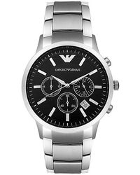 Emporio Armani Mechanical Two-hand Stainless Steel Watch - Metallic
