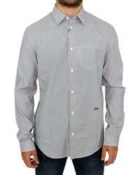 Gianfranco Ferré Striped Cotton Casual Shirt - Grey