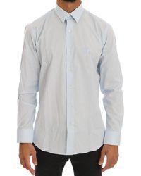 Cavalli Light Stretch Slim Fit Dress Shirt - Blue
