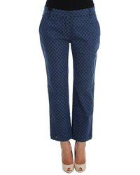 Dolce & Gabbana Polka Dotted Stretch Capri Jeans Blue Sig20010