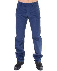 Gianfranco Ferré Cotton Straight Fit Casual Trouser Blue Sig11094