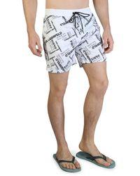 Karl Lagerfeld Swimwear Kl21mbm14 - White