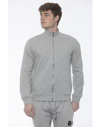 19v69 Italia Gray Logo On The Sleeve Sweater