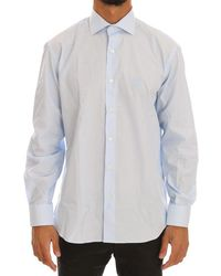 Cavalli Light Cotton Slim Fit Dress Shirt - Blue