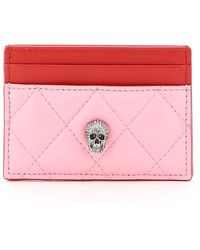 Alexander McQueen Pavé Skull Cardholder - Pink