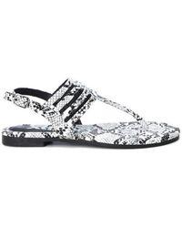 Xti Ankle Strap Buckle Flip Flops Sandals - White