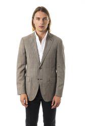 Uominitaliani Slim Fit Blazer - Grey