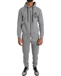 Billionaire Italian Couture Sport Hooded Sweater Pants Tracksuit - Gray