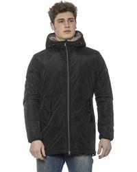 Cerruti 1881 Black Zip Closure And Hood Jacket