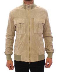 John Galliano Beige Suede Jacket Coat - Natural