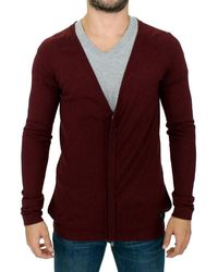 CoSTUME NATIONAL Zipper Cardigan Bordeaux Sig10402 - Red