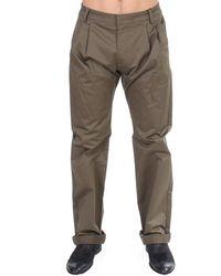 Gianfranco Ferré Green Cotton Stretch Comfort Fit Pants