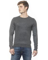 19v69 Italia Anthracite Crew Neck Sweater - Gray