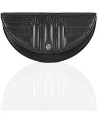 Shanghai Tang Half Moon Leather Pochette - Black