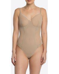 Spanx Haute Contour Nouveau Thong Bodysuit - Natur