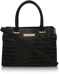 Carvela Kurt Geiger 'chilly' Croc Effect Cross Body Bag - Black
